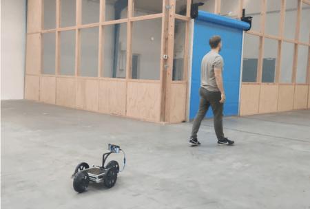 Capra robot demonstrating the follow-me-function